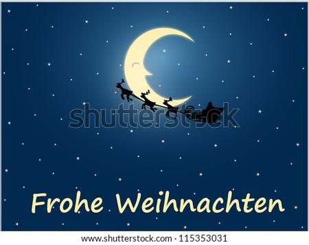 Frohe Weihnachten - stock photo