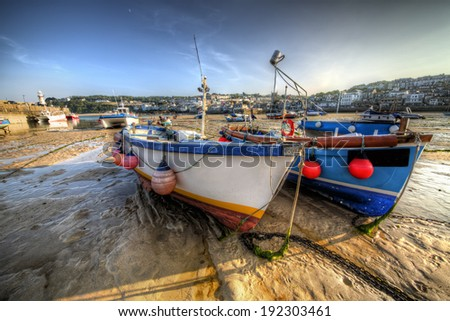 From a British Fishing Port - stock photo
