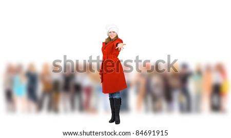From a Crowd Blurred Background Business - stock photo