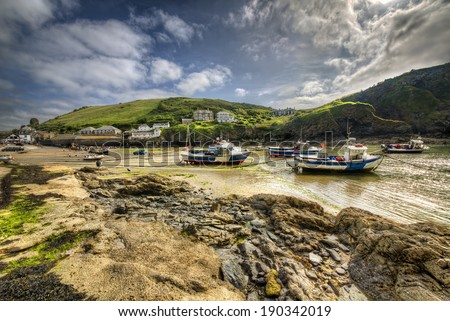 From a Fishing Port in Cornwall - stock photo