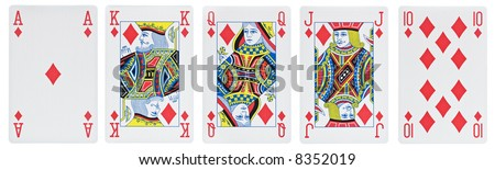 From ace to ten. all diamond [with clipping path] - stock photo
