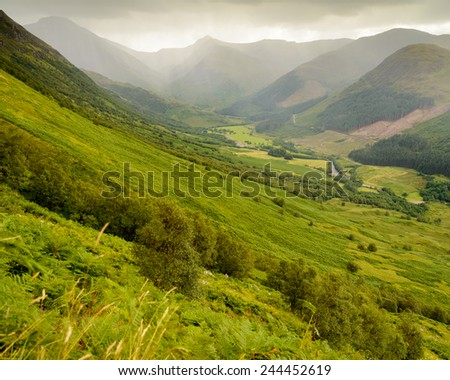 From Ben Nevis - stock photo