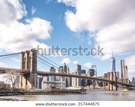 From Brooklyn to Manhattan - stock photo