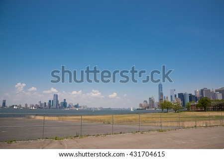 From Governors Island / Lower Manhattan and Jersey City / From Governors island,we can see both lower Manhattan and Jersey City.