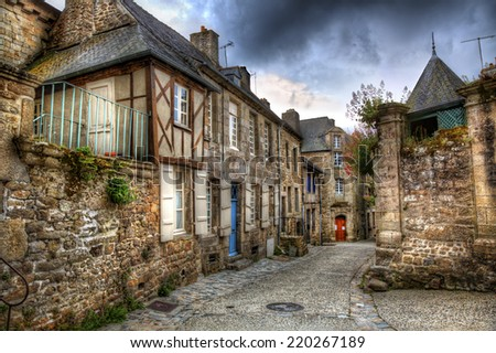 From Moncontour, Brittany - stock photo
