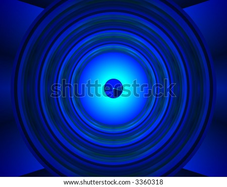 From SCI-FI series Alien Pop Art . Glowing  abstract fractal background featuring alien radar with splash of blue neon lights. - stock photo