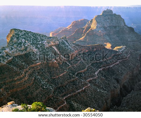 From The Cape Royal Overlook, Grand Canyon National Park, Arizona, North Rim - stock photo