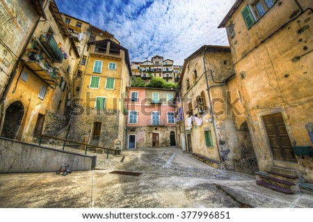 From the Village of Saorge, Alpes-Maritimes, Provence, France