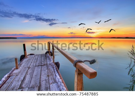 from thethe pier - stock photo