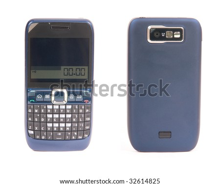 Front and back cellphone - stock photo