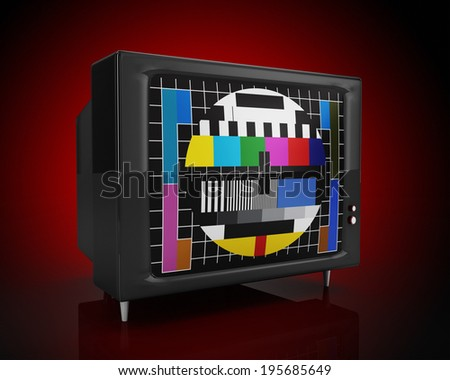 front and old tv - stock photo