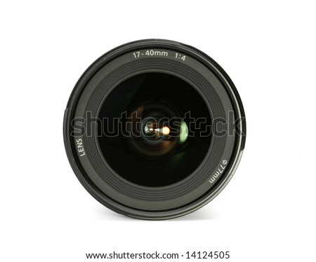 front close up of a camera lens