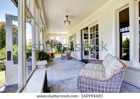Front porch stock images royalty free images vectors for American classic house style