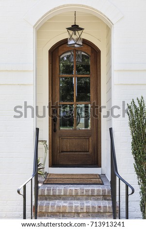 Front Door Arched Entryway Stock Photo Royalty Free 713913241