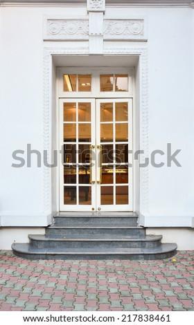 Front Door of a Beautiful - stock photo