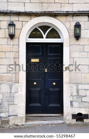 Front Door of a London House - stock photo