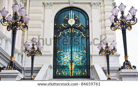 Front Door of a Traditional - stock photo