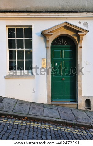 Front Door of an Old English Town House