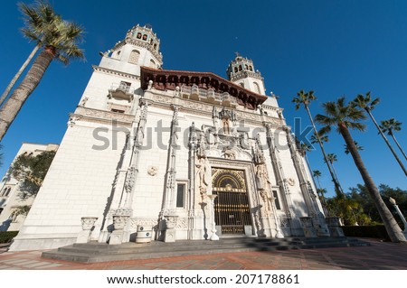 Front door of Hearst Castle
