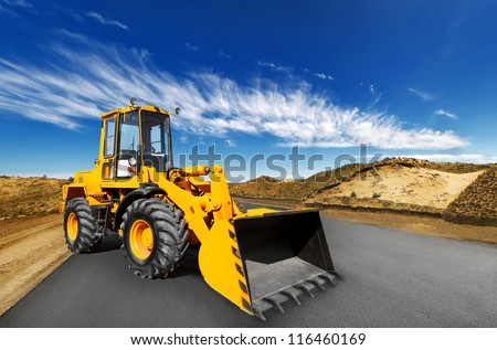 front end loader - stock photo