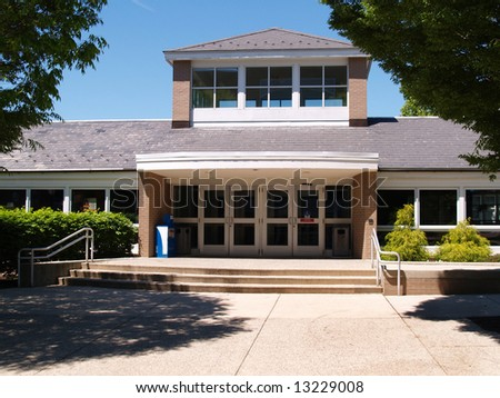 front entry for a modern building - stock photo