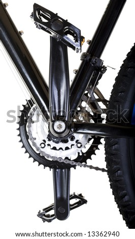 Front Gear System and Pedals - stock photo
