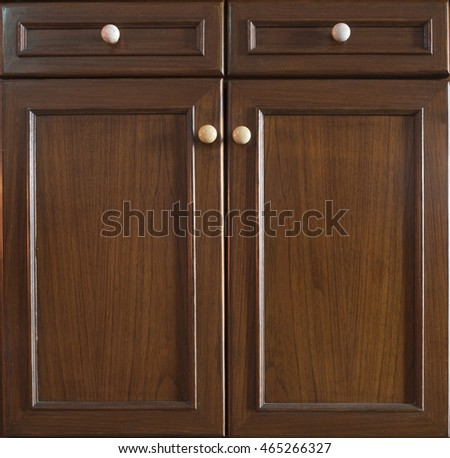 Front Kitchen Wooden Frame Cabinet Door Stock Photo (Royalty Free ...
