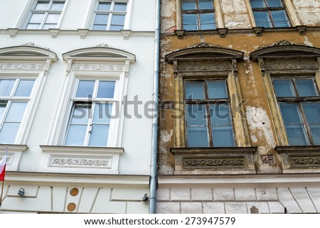 Front of a building - stock photo