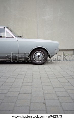 front of a old car - stock photo