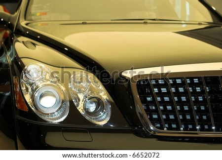 front of car - stock photo