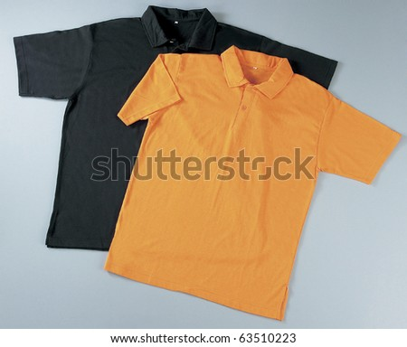 Front of clean T-Shirts (Polo). With Clipping Path. - stock photo