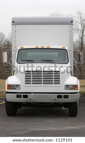 Front of Delivery or Moving Truck - stock photo