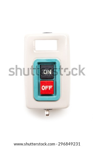front of ON-OFF Switch in ON position