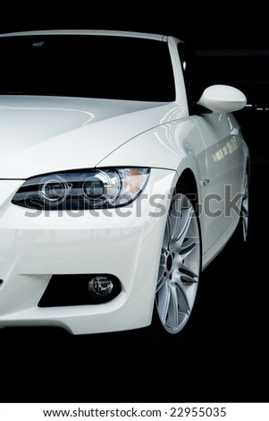 Front of Sports Car - stock photo