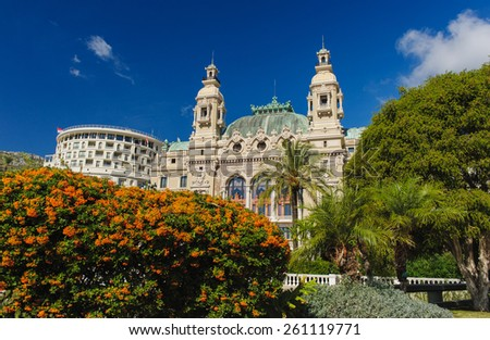 Front of the Grand Casino in Monte Carlo, Monaco - stock photo