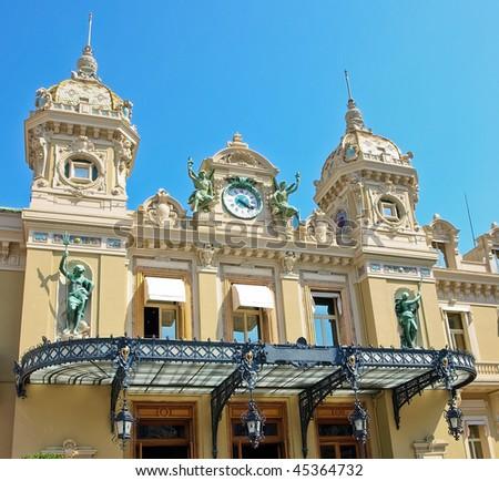 Front of the Grand Casino in Monte Carlo, Monaco - stock photo