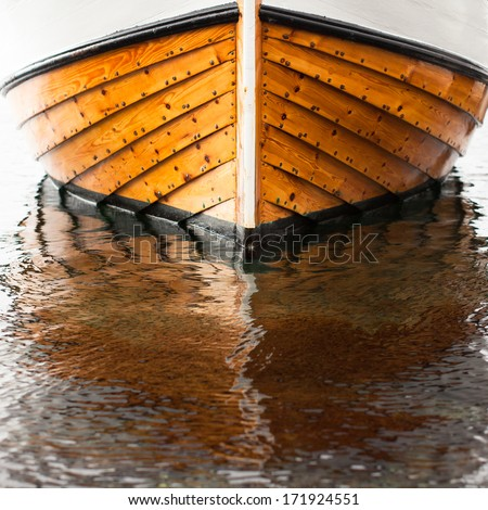 Front Of Tradition Wooden Fisher Boat From Norway