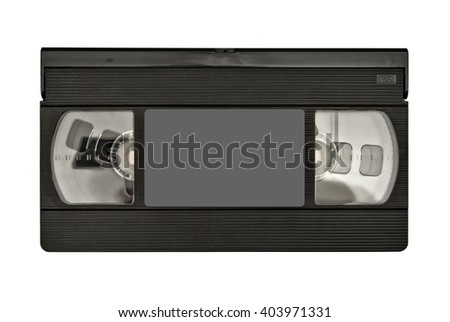 Front of VHS Tape Isolated On White Background - stock photo