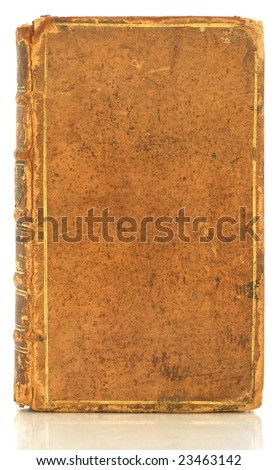 Front page of antique book isolated by white - stock photo