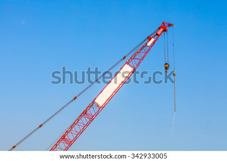 Front part of Construction crane, nobody