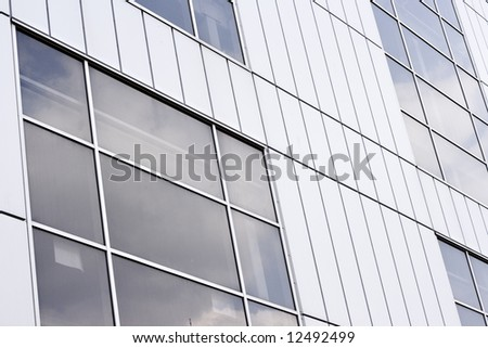 Front picture of Urban building, stock photo - stock photo