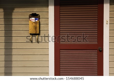 front porch mailbox - stock photo