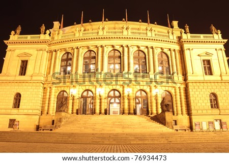 front rudolfinum in prague