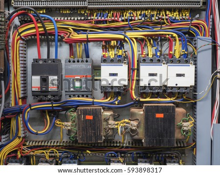 Front Shot Electric Panel That Shows Stock Photo & Image (Royalty ...