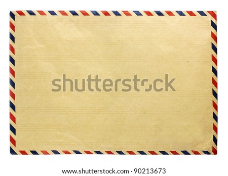 front side envelope - stock photo