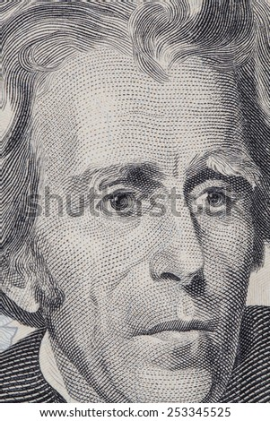 Front side of a 20 dollar bill - stock photo