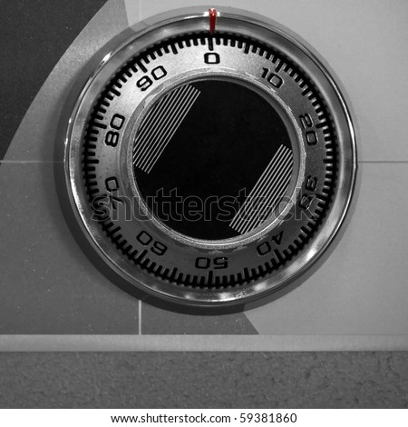 front side of combination safe lock - stock photo
