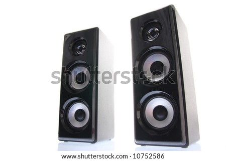 Front speakers - stock photo