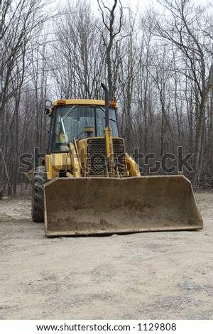 Front View of a Backhoe