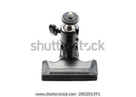 front view of a black photo clamp